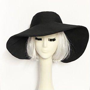 Wide Brim Black Sun Hat